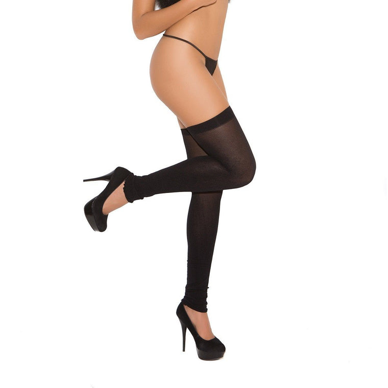Elegant Moments Footless Nylon Thigh Highs