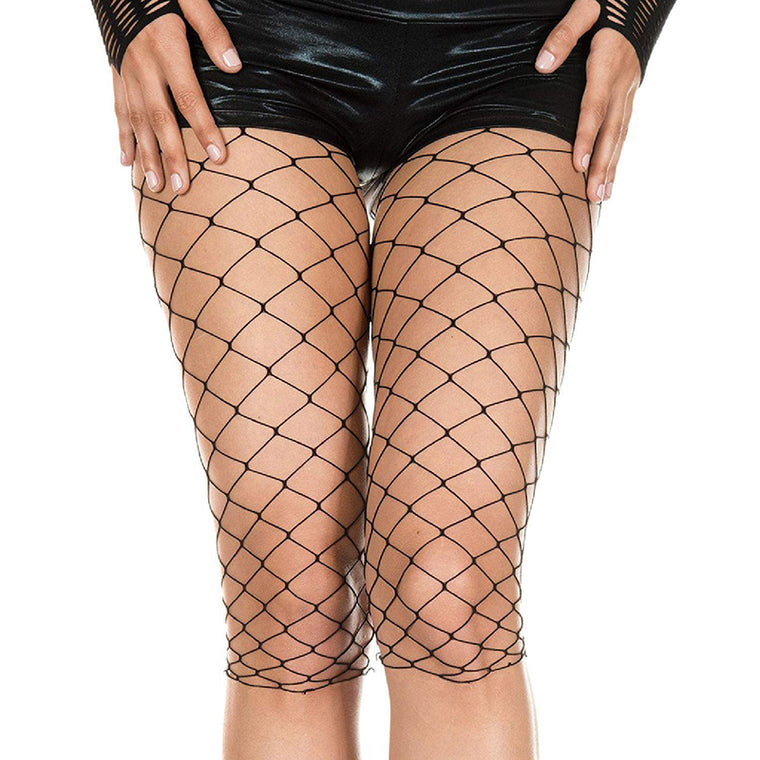 Music Legs 3/4 Length Fence Net Biker Shorts