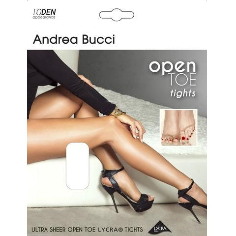 Andrea Bucci 10 Denier Ultra Sheer Open Toe Tights
