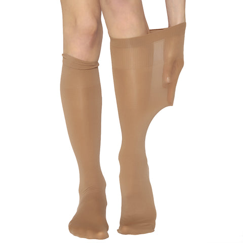 ANDREA BUCCI EXTRA WIDE COMFORT TOP OPAQUE KNEE HIGHS - Leggsbeautiful