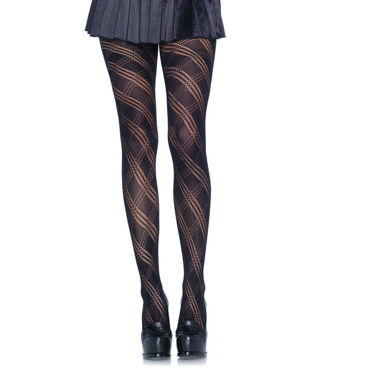 840f3739b5d Leg Avenue Opaque Geometric Diamond Knit Tights