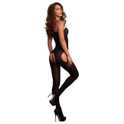 Leg Avenue Semi Opaque Suspender Bodystocking - Leggsbeautiful