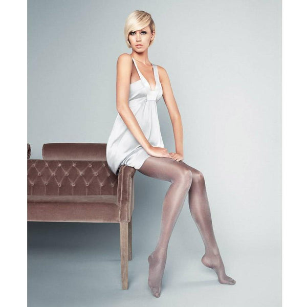 Veneziana 20 Denier Silver Shimmer Tights - Leggsbeautiful