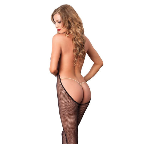 Leg Avenue Bare Bottom Fishnet Bodystocking - Leggsbeautiful