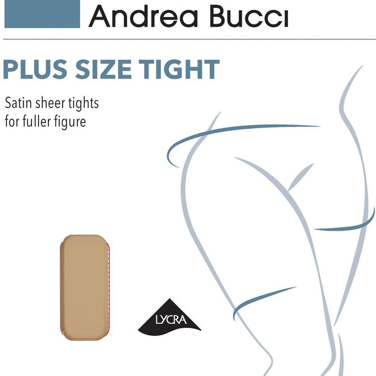 Andrea Bucci 15 Denier Plus Size Satin Sheer Tights