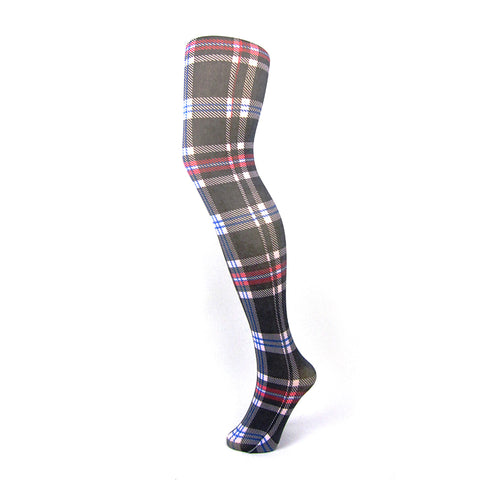 70 Denier Opaque Tartan Print Tights [Colours Available] - Leggsbeautiful