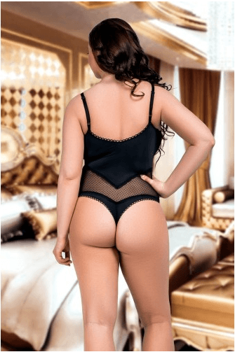 Nine X Soft Stretch Fuller Figure Mesh Panel Body - Leggsbeautiful