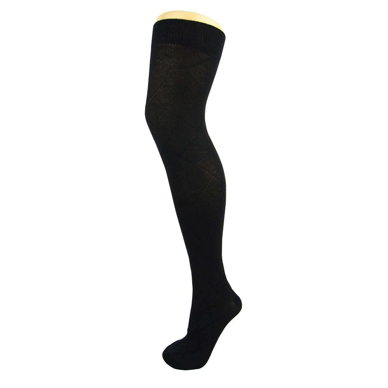 Cotton Blend Criss Cross Over The Knee Socks - Leggsbeautiful