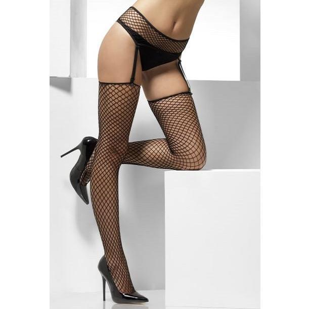 Fever Industrial Net Stockings With Suspender Belt
