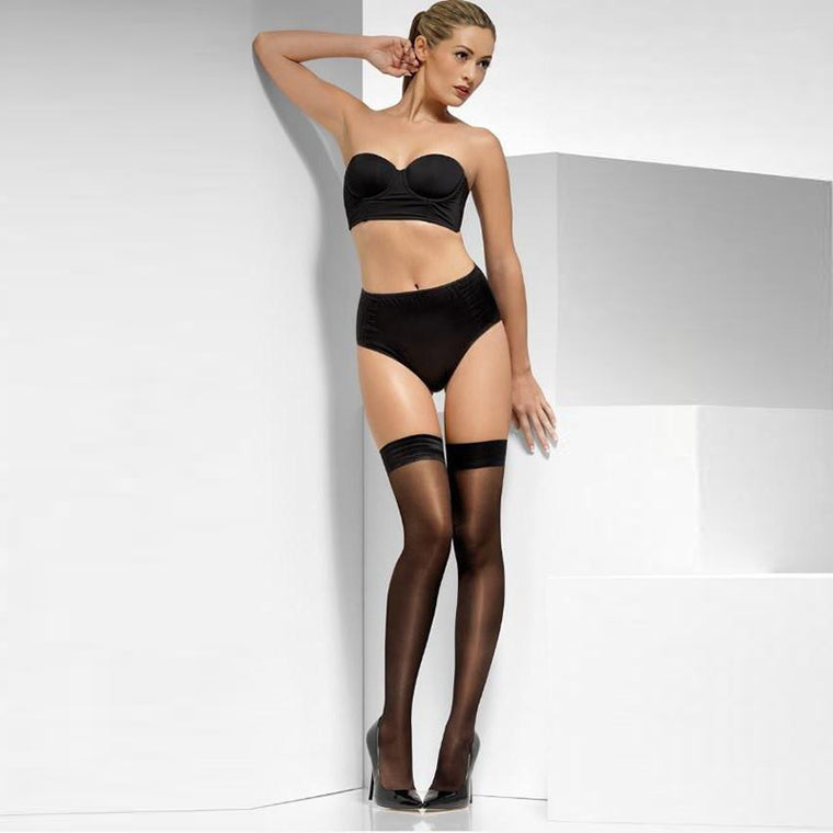 Fever Sheer Shine Plain Top Hold Ups
