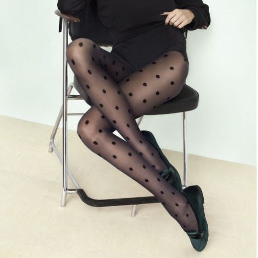 Fiore Encore 20 Denier Sheer Spot Tights - Leggsbeautiful