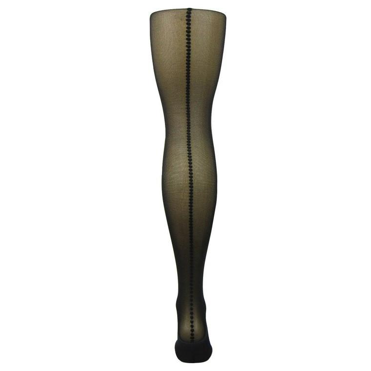 Leggsbeautiful Luxury Sheer Mini Heart Backseam Tights - Leggsbeautiful