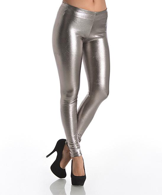 Metallic Foil Leggings - Leggsbeautiful
