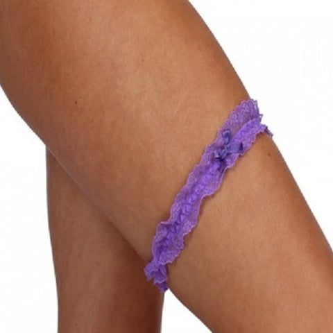 Classified Thin Lace Garter With Bow - Leggsbeautiful