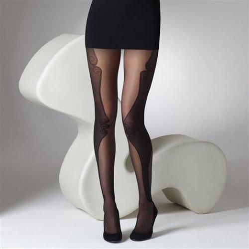 Gipsy Woman's Sheer Vixen Contour Panel Tights - Leggsbeautiful