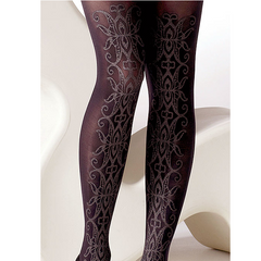 Gipsy Ornate Sparkle Front Opaque Tights - Leggsbeautiful
