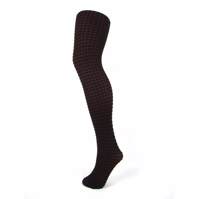 Music Legs Thick Dogtooth Opaque Tights