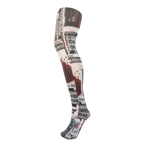 Leggsbeautiful 70 Denier Camden Square London Scene Opaque Tights - Leggsbeautiful