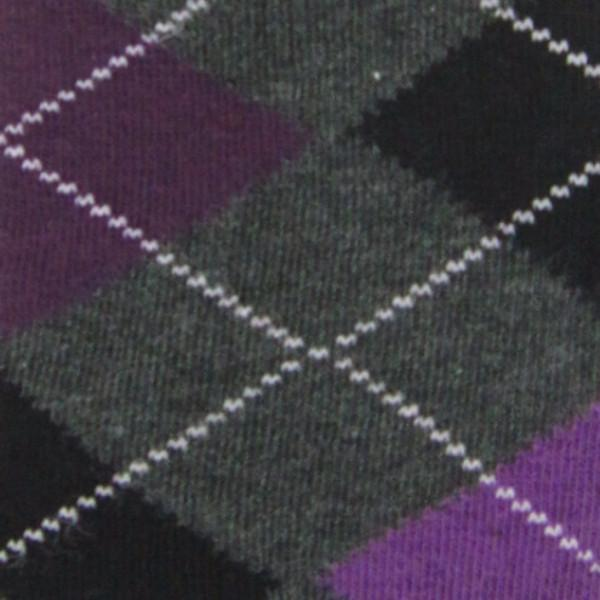 Cotton Blend Argyle Darks Over The Knee Socks - Leggsbeautiful