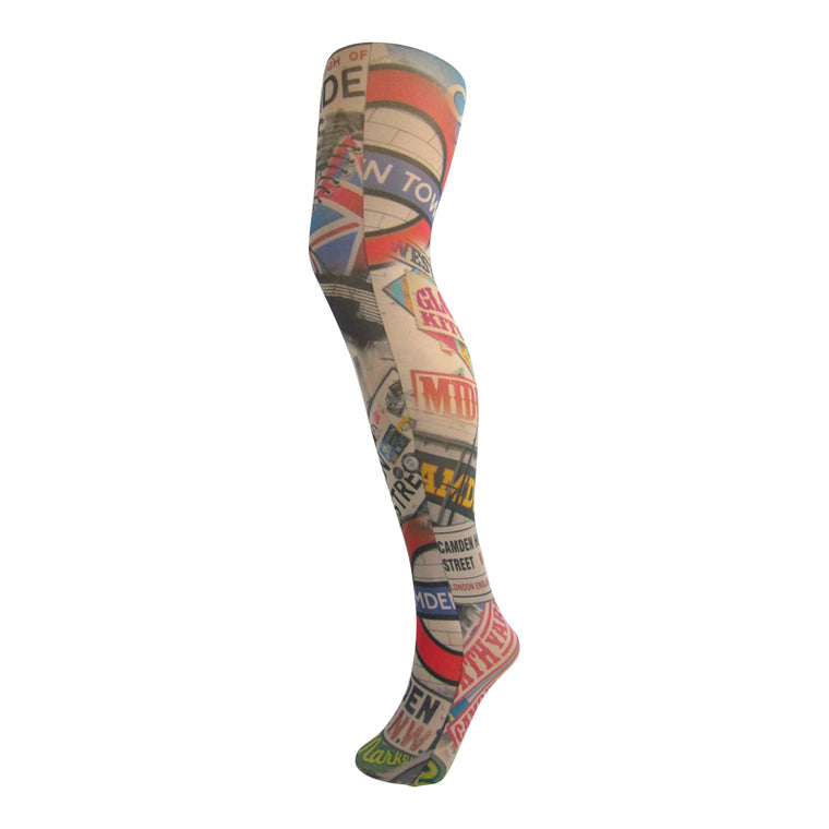 Leggsbeautiful 70 Denier Camden And London Vibes Print Tights