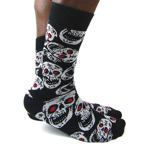 Luv Socks Men's Cotton Blend Skulls Ankle Socks - Leggsbeautiful