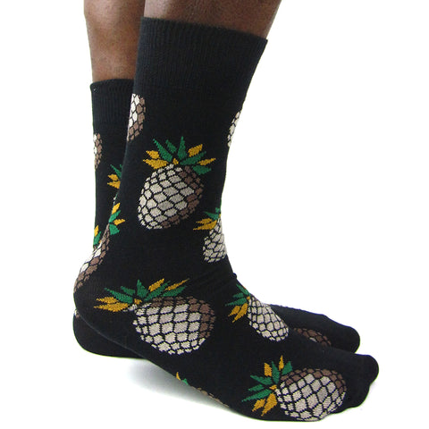 Luv Socks Men's Cotton Blend Pineapple Ankle Socks - Leggsbeautiful