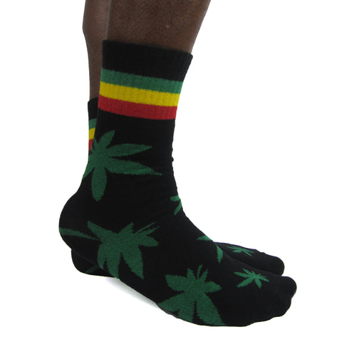 Luv Socks Men's Cotton Cannabis Print Ankle Socks - Leggsbeautiful