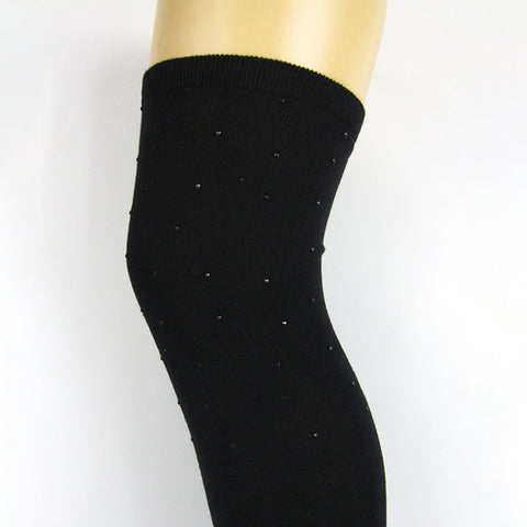 Be Snazzy Cotton Blend Studded Over The Knee Socks - Leggsbeautiful