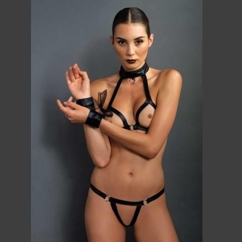 Leg Avenue Three Piece Bondage Set - Leggsbeautiful