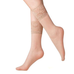 Gabriella Kala Sheer Lace Top Ankle Socks - Leggsbeautiful