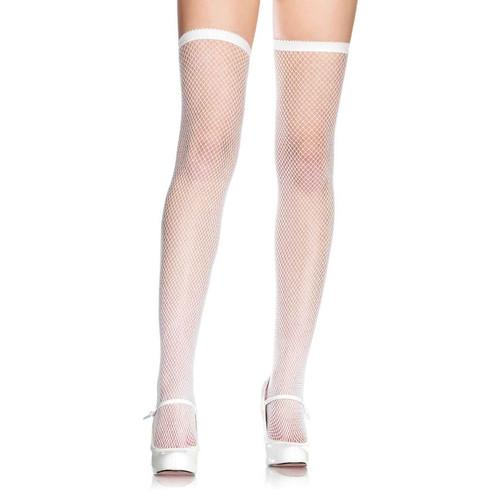 Coquette Elastic Top Fishnet Stockings