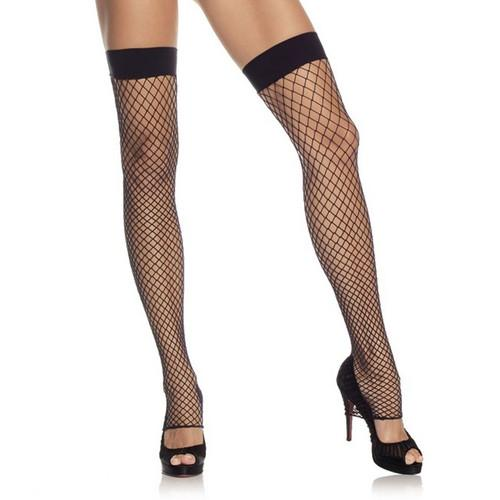 Leg Avenue Industrial Net Footless Thigh High - Leggsbeautiful