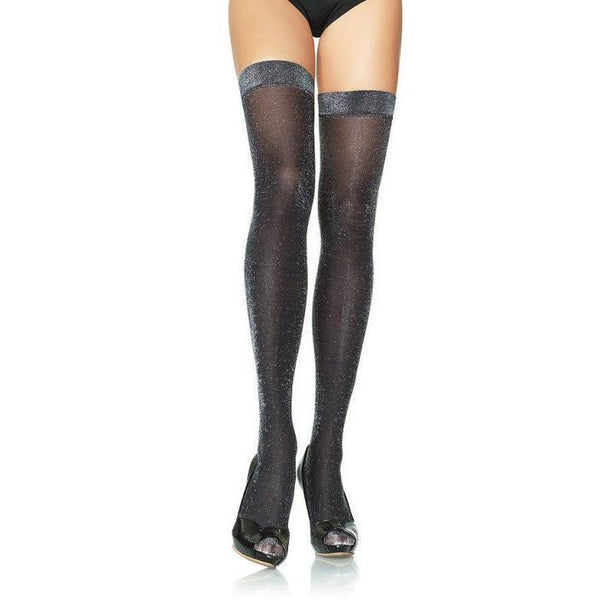 Leg Avenue Lurex Glitter Thigh Highs - Leggsbeautiful