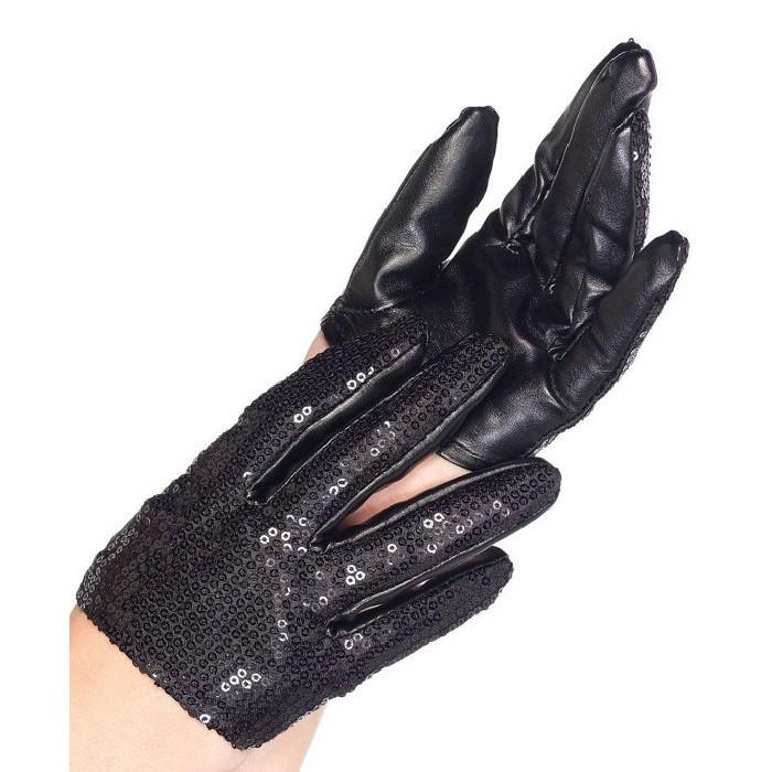 Leg Avenue Faux Leather Sequin Cropped Driving Gloves Goth