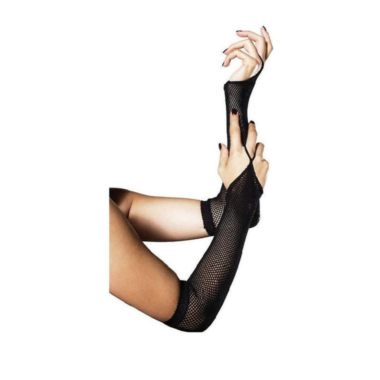 Leg Avenue Fishnet Elbow Length Fingerless Gloves