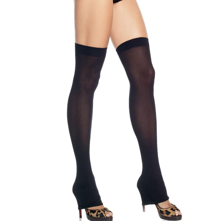 Leg Avenue Footless Nylon Thigh Highs