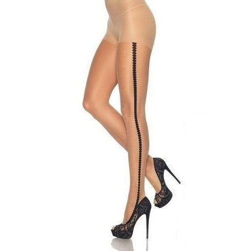 Leg Avenue Premium Sheer Spotted Side Seam Tights - Leggsbeautiful