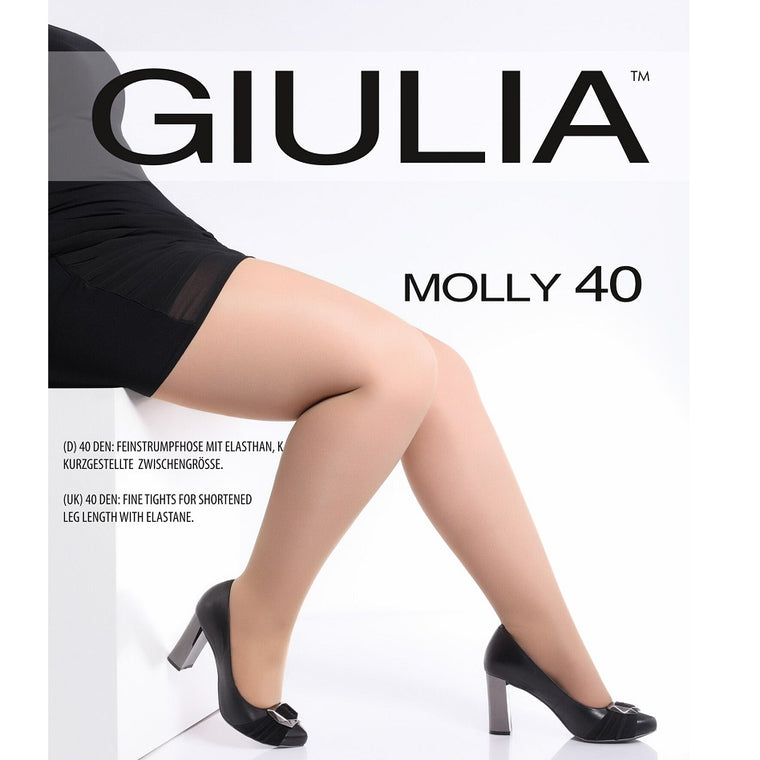 Giulia Molly 40 Denier Plus Size Semi Opaque Tights