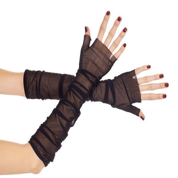 Music Legs Long Soft Stretch Fine Mesh Gloves