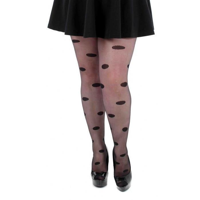 Pamela Mann Fuller Figure Sheer Big Spot Tights - Leggsbeautiful