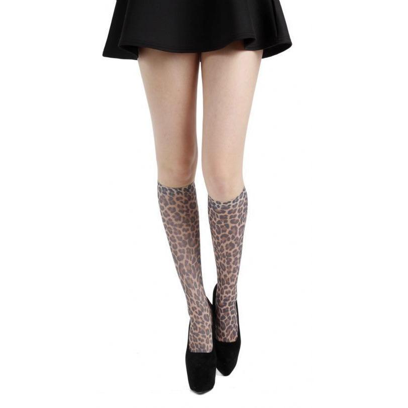 Pamela Mann Leopard Print Knee High Socks - Leggsbeautiful