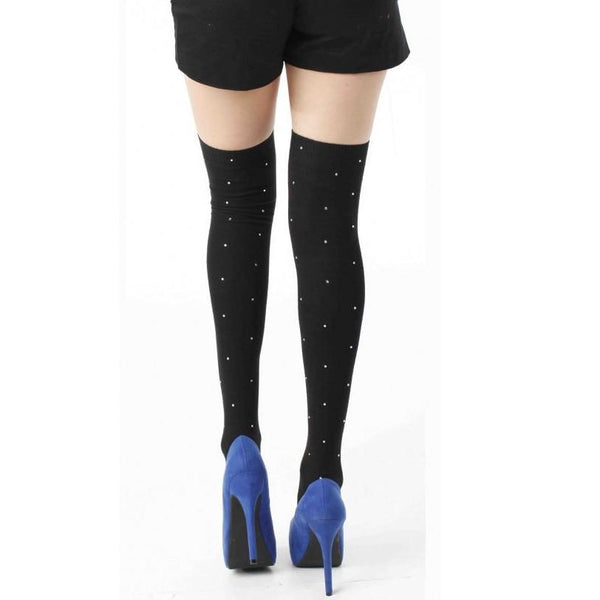 Pamela Mann Over The Knee Socks Rhinestone Studs - Leggsbeautiful