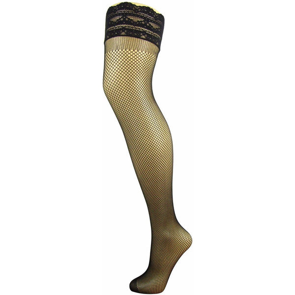 Pretty Legs Lace Top Fishnet Hold Ups - Leggsbeautiful