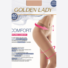 Golden Lady Comfort 40 Seamless Opaque Tights