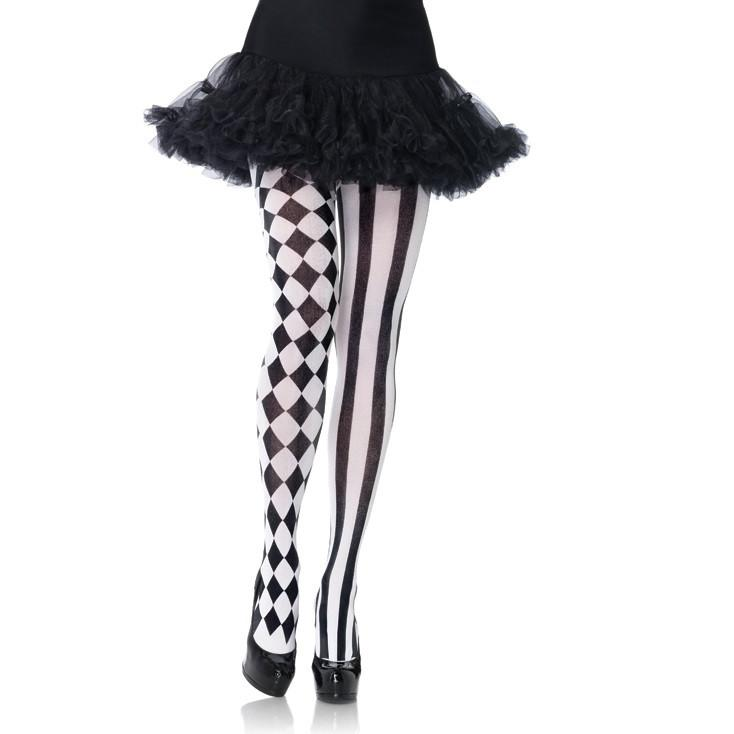 Leg Avenue Opaque Harlequin Diamond & Stripe Tights