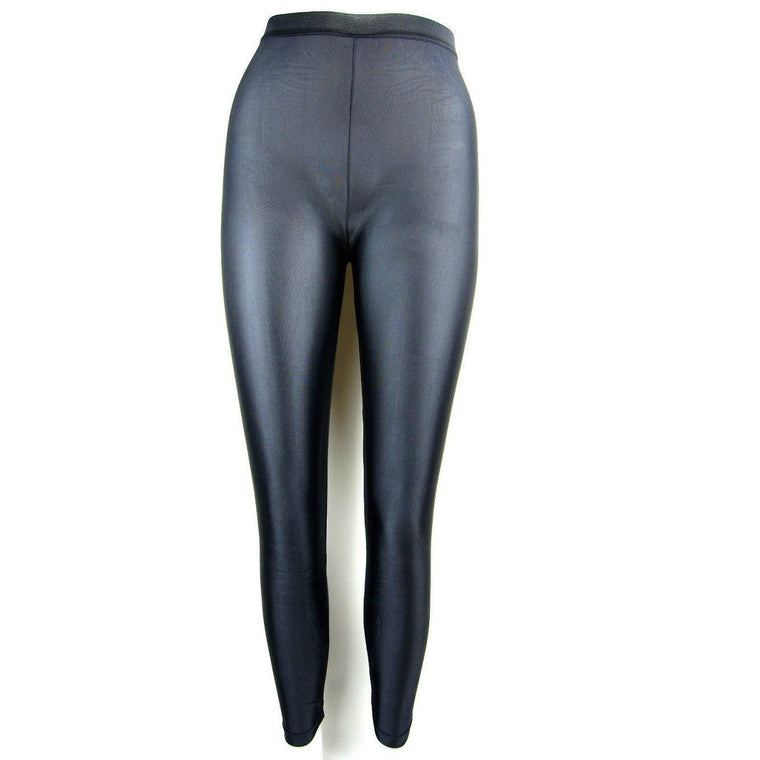 Sioree Shiny Disco Style Wet Look Leggings