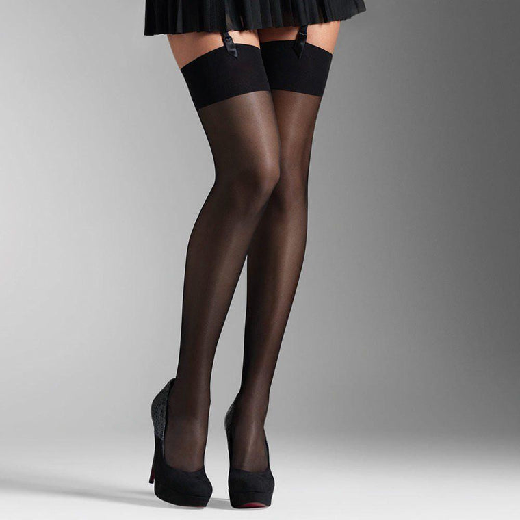 Silky Sheer Hi Shine Plain Top Stockings