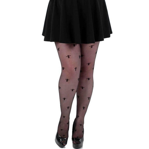 Pamela Mann Fuller Figure Sheer Crosses Tights - Leggsbeautiful