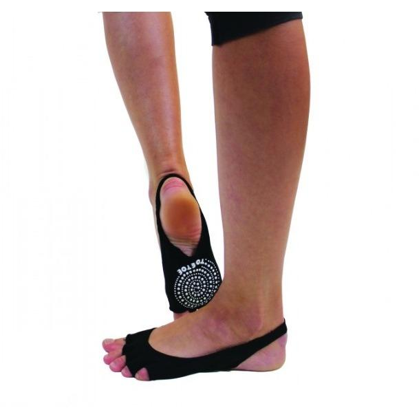 Toe Toe Unisex Toeless Non Slip Sling Back Yoga Socks