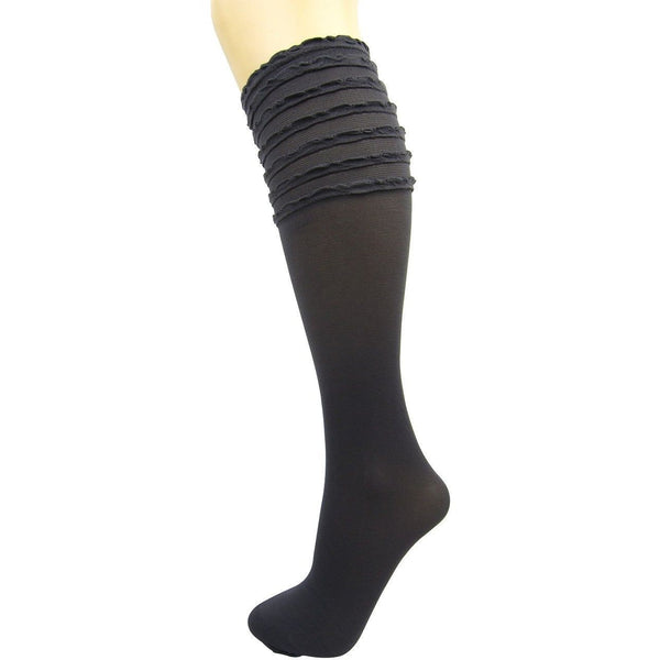 Veneziana Frill Top Knee High Socks - Leggsbeautiful